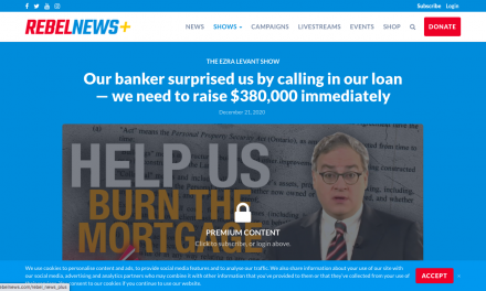 REBEL NEWS banker surprised THEM by calling in THIER loan — need to raise $380,000 immediately Says ezra levant
