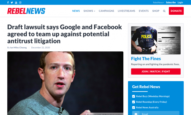 Draft lawsuit says Google and Facebook agreed to team up against potential antitrust litigation