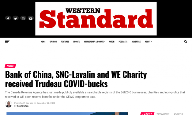 Bank of China, SNC-Lavalin and WE Charity received Trudeau COVID-bucks