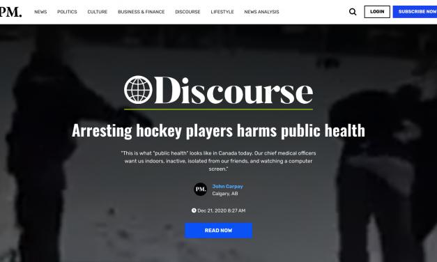 Arresting hockey players harms public health