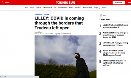 LILLEY: COVID is coming through the borders that Trudeau left open