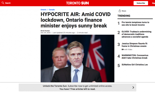 HYPOCRITE ROD PHILLIPS RULEs FOR THEE BUT NOT FOR ME: Amid COVID lockdown, Ontario finance minister enjoys sunny break