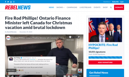 Fire Rod Phillips! Ontario Finance Minister left Canada for Christmas vacation amid brutal lockdown