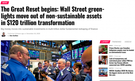 The Great Reset begins: Wall Street green-lights move out of non-sustainable assets in $120 trillion transformation