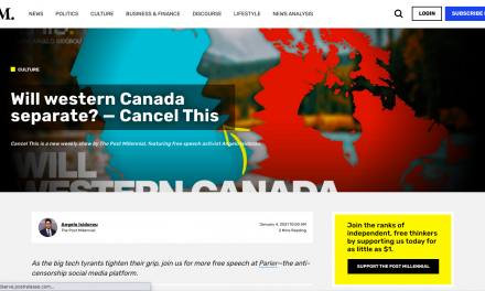 Will western Canada separate? — Cancel This