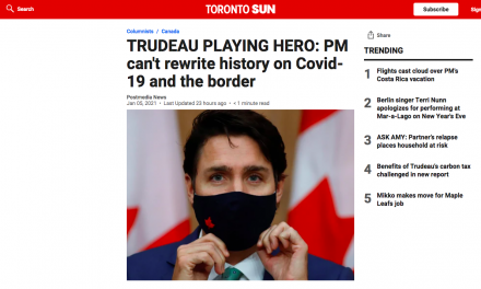 WATCH: TRUDEAU PLAYING HERO: PM can't rewrite history on Covid-19 and the border