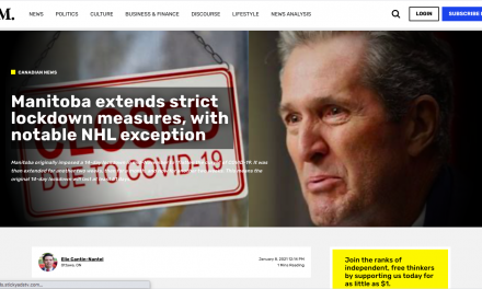 KING PALLISTER of Manitoba extends strict lockdown measures, with notable NHL exception