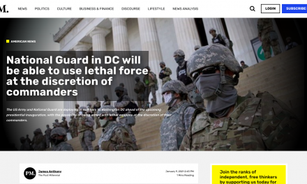 National Guard in DC will be able to use lethal force at the discretion of commanders
