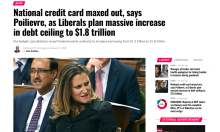 National credit card maxed out, says Poilievre, as Liberals plan massive increase in debt ceiling to $1.8 trillion