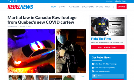 WATCH: Martial law in Canada: Raw footage from Quebec's new COVID curfew