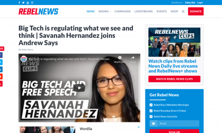 WATCH: Big Tech is regulating what we see and think | Savanah Hernandez joins Andrew Says