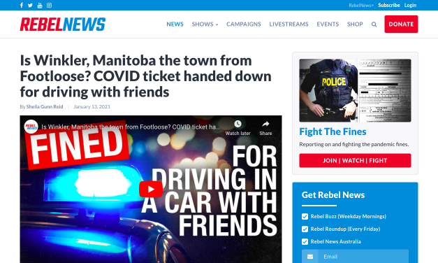 WATCH: Is Winkler, Manitoba the town from Footloose? COVID ticket handed down for driving with friends