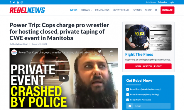 Power Trip: Cops charge pro wrestler for hosting closed, private taping of CWE event in Manitoba