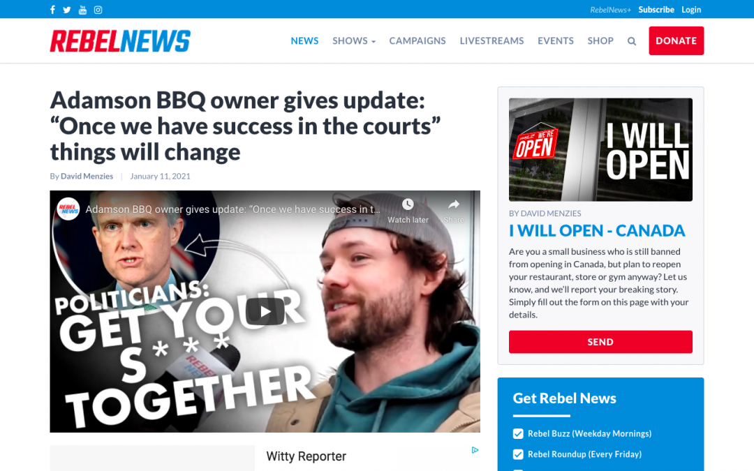 """WATCH: Adamson BBQ owner gives update: """"Once we have success in the courts"""" things will change"""