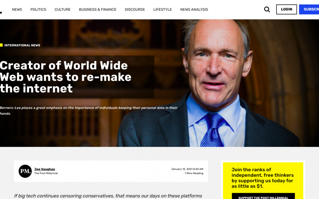 Creator of World Wide Web wants to re-make the internet