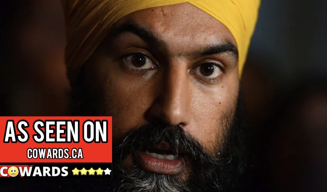 Unaccountable useless coward Jagmeet Singh says he refuses to answer questions from Rebel News. Disrespects millions of Canadians as second class citizens.